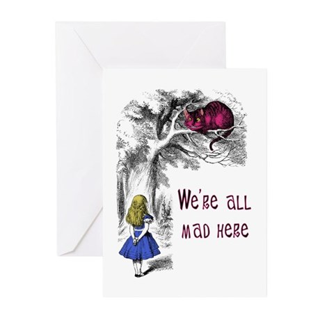 We're All Mad Here Greeting Cards (Pk of 10)