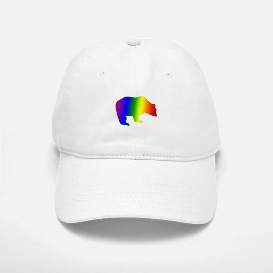 Rainbow Gay Pride Bear Baseball Baseball Cap