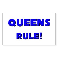 Queens Rule! Rectangle Decal