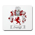 Ordelaffi Family Crest Mousepad
