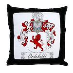 Ordelaffi Family Crest Throw Pillow