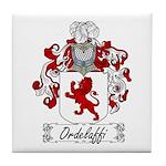 Ordelaffi Family Crest Tile Coaster
