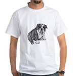 Puppy Drawing White T-Shirt