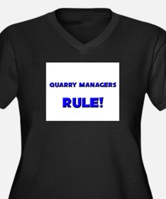 Quarry Managers Rule! Women's Plus Size V-Neck Dar