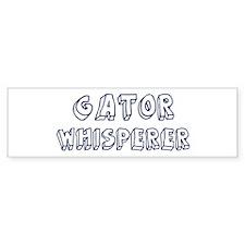 Gator Whisperer Bumper Bumper Sticker