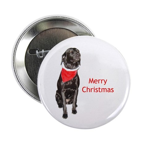 """merry Christmas lab 2.25"""" Button (100 pack)"""