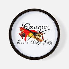Cougar Seeks Boy Toy Wall Clock