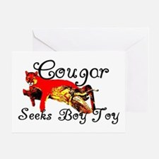 Cougar Seeks Boy Toy Greeting Card