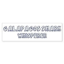 Galapagos Shark Whisperer Bumper Bumper Sticker