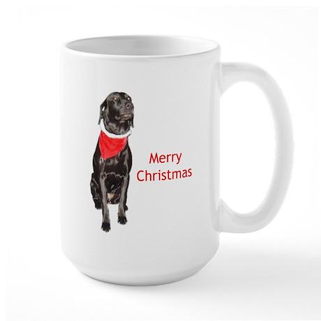 merry Christmas lab Large Mug