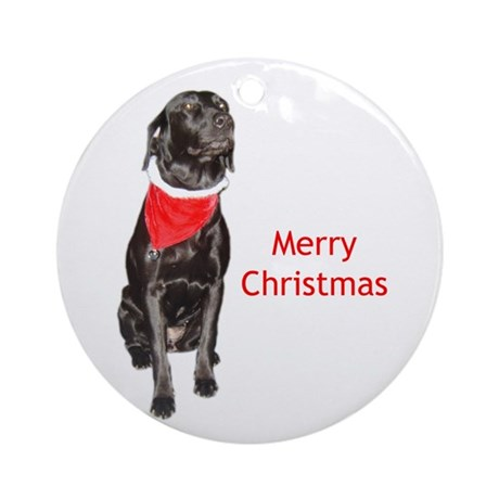 merry Christmas lab Ornament (Round)