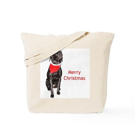 merry Christmas lab Tote Bag