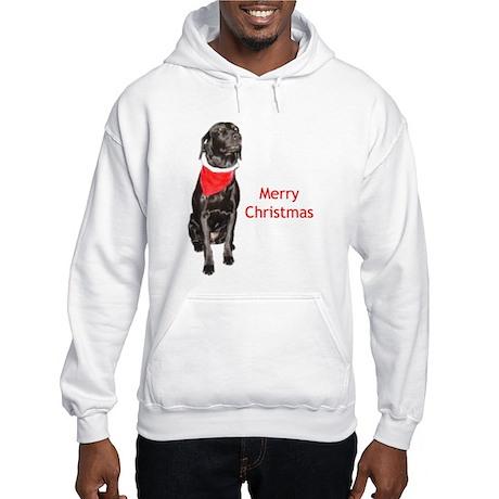 merry Christmas lab Hooded Sweatshirt