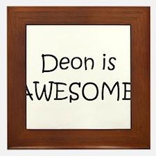 Cute Deon Framed Tile