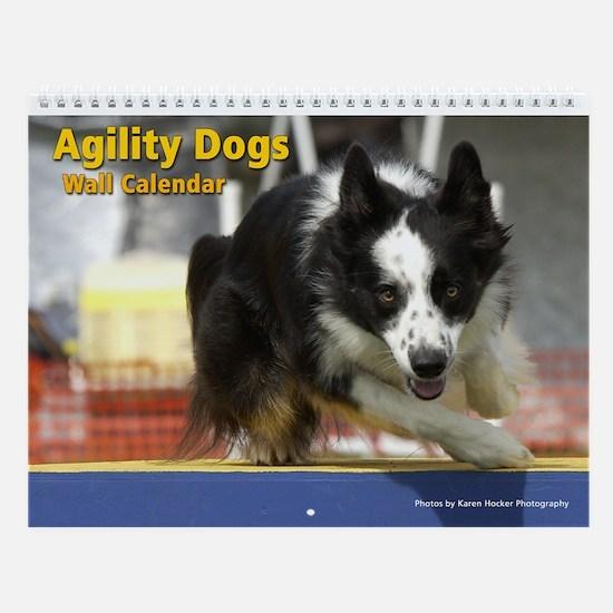 Agility Dogs Wall Calendar