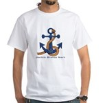Masonic US Navy Anchors Away White T-Shirt