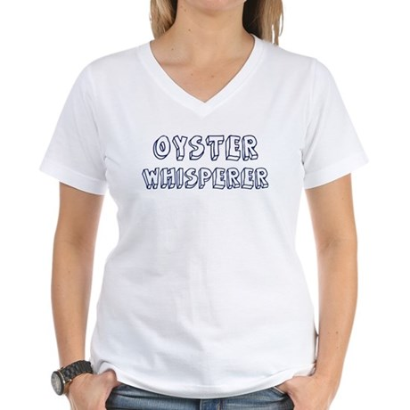 Oyster Whisperer Women's V-Neck T-Shirt