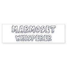 Marmoset Whisperer Bumper Bumper Sticker