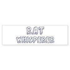 Rat Whisperer Bumper Bumper Sticker