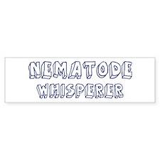 Nematode Whisperer Bumper Bumper Sticker