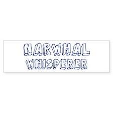 Narwhal Whisperer Bumper Bumper Sticker