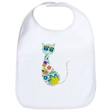 Flowers Kitty Cat Bib