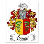 Ormani Family Crest Small Poster