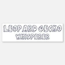 Leopard Gecko Whisperer Bumper Bumper Bumper Sticker