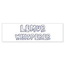 Lemur Whisperer Bumper Bumper Sticker