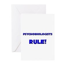 Psychobiologists Rule! Greeting Cards (Pk of 10)
