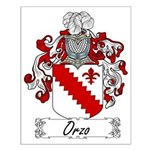 Orzo Family Crest Small Poster