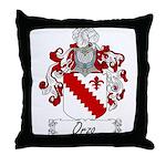 Orzo Family Crest Throw Pillow