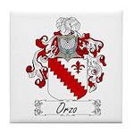 Orzo Family Crest Tile Coaster