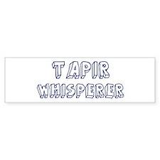 Tapir Whisperer Bumper Bumper Sticker