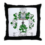 Osella Family Crest Throw Pillow