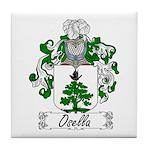 Osella Family Crest Tile Coaster
