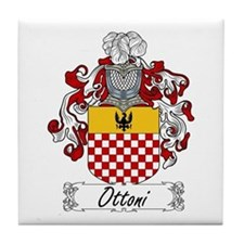 Ottoni Family Crest Tile Coaster