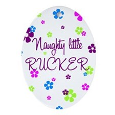 Naughty Little Rucker Keepsake (Oval)