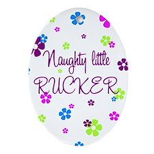Naughty Little Rucker Keepsake (Oval)