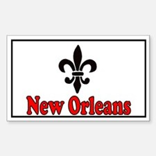 Luv New Orleans Rectangle Decal