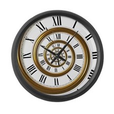 Spiral Large Wall Clock