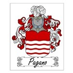 Pagano Family Crest Small Poster