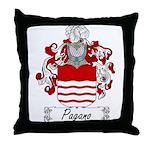 Pagano Family Crest Throw Pillow
