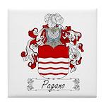 Pagano Family Crest Tile Coaster