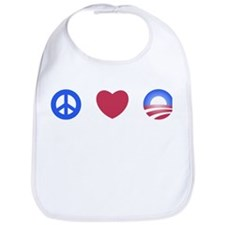 Unique Peace love obama Bib