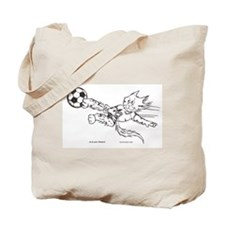 Soccer cat Tote Bag