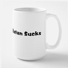Satan Sucks Large Mug
