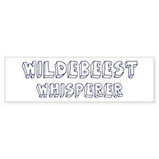 Wildebeest Whisperer Bumper Bumper Sticker