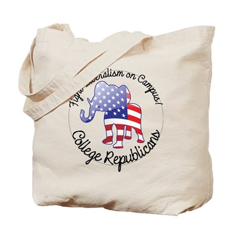 Fight Liberalism on Campus Tote Bag