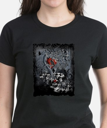 Raven Heart Dark Tree by Juleez T-Shirt